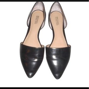 Michael Kors Black Leather Juliet's Flats 10M